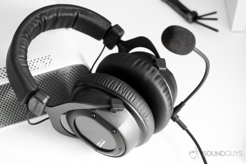 small resolution of gaming headset beyerydynamic custom game headset leaning on a white xbox 360 with a universal