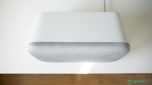 small resolution of the touch sensitive part of the google home max is a gray strip