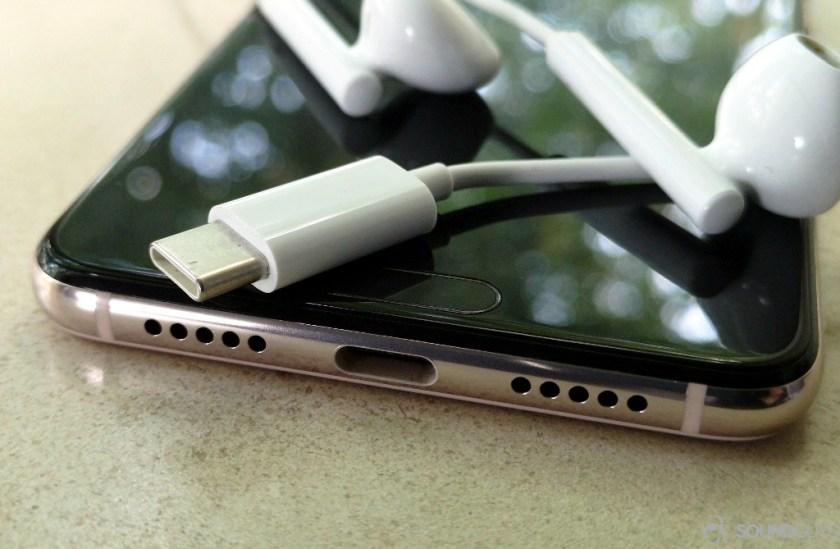 USB Type-C phone port and headphones