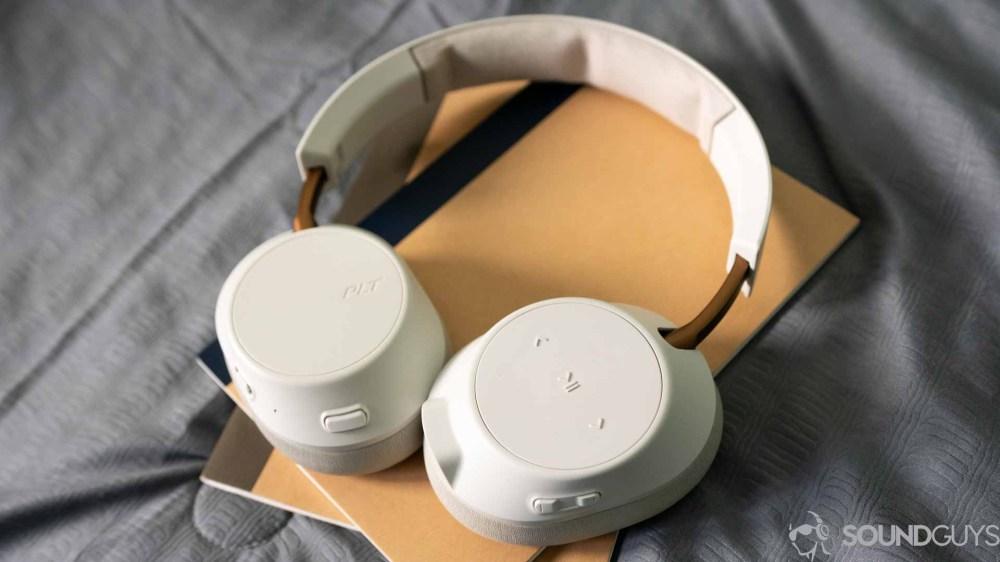 medium resolution of plantronics backbeat go 810 headphones pictured lying flat