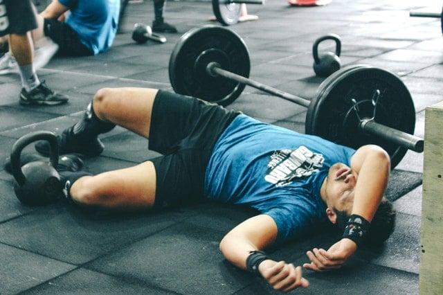 tired exercising man