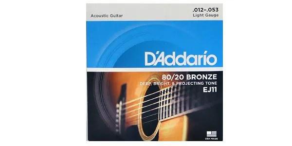 DADDARIO ( ダダリオ ) / EJ11 80/20 Bronze Wound Light