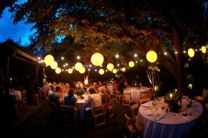 Market lights and paper lanterns provided by Sound Image Entertainment