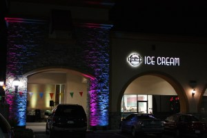 Architectural Lighting for opening of Ice Cream Location in Sacramento, Ca