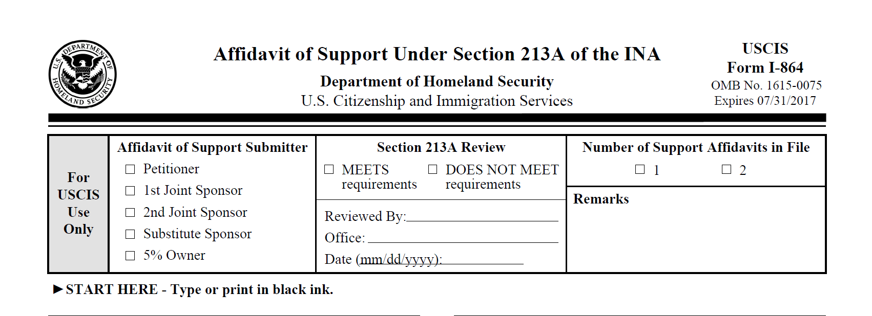 How To Complete The Form I 864 Sound Immigration