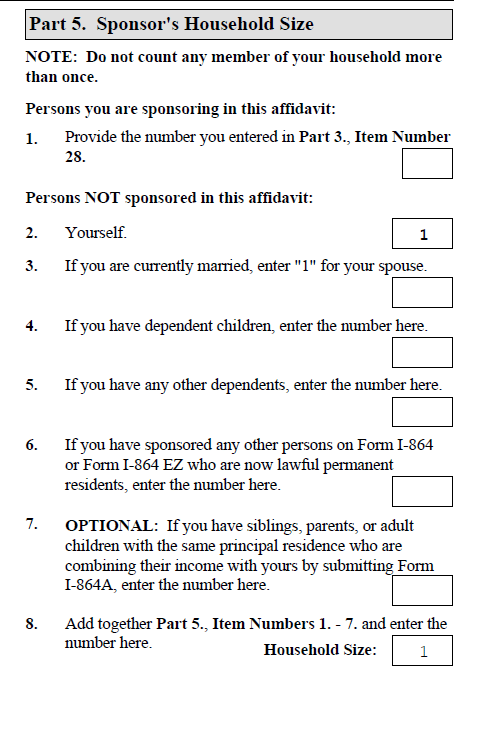 How to Complete the Form I-864 - Sound Immigration