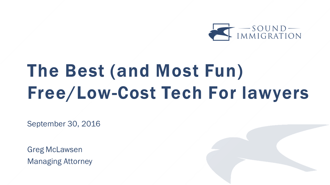 2016 09 30 Free And Low Cost Technology For Law Firms