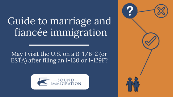 May I Visit The U S On A B 1 B 2 Or Esta After Filing An I 130 Or