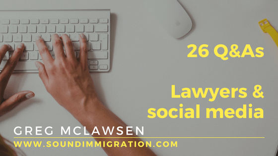 Social Media For Lawyers – 26 Questions And Answers