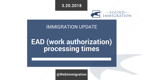 How long does it take for USCIS to issue an EAD (work authorization