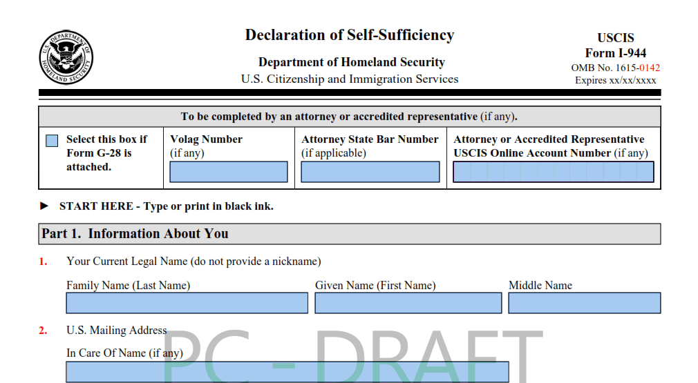 What Is The Form I-944, Declaration Of Self-Sufficiency?