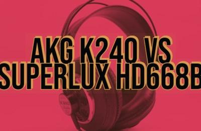 AKG K240 vs Superlux HD668B