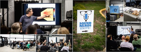 Nicholas Radina SoundNerdsUnite live sound workshop collage
