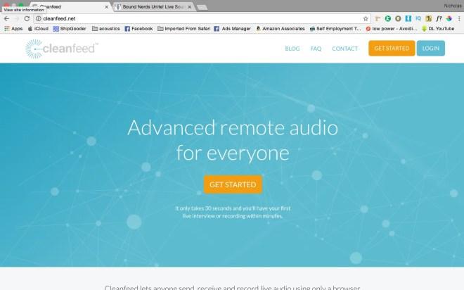 Cleanfeed Home Page - - Nicholas Radina
