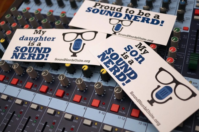 Sound Nerds Unite Sticker