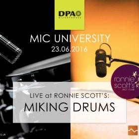 DPA Mic Uni Live at Ronnie's - Drums