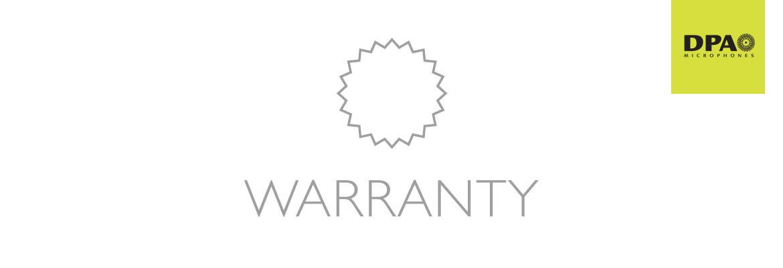 DPA Microphones Warranty Information