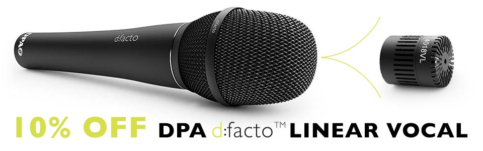 10% Off DPA d:facto Linear Vocal Microphone