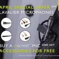 Free Accessories with DPA d:screet™ Mics April 2017