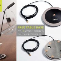 Free Table Base with DPA d:screet™ Podium Mics this September