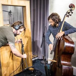 Andrea Di Biase recording Double Bass