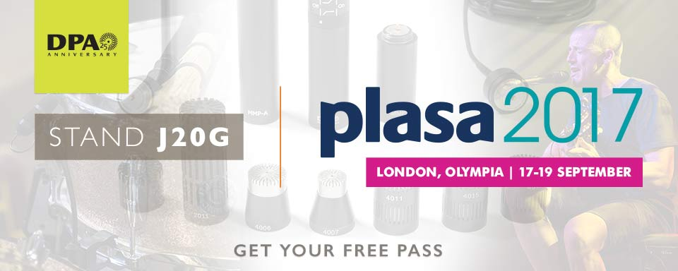 DPA Microphones PLASA2017 Stand J20G