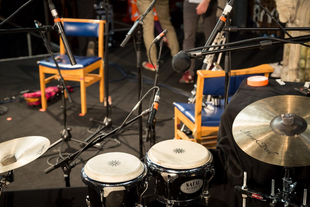 iyatraQuartet mic'ing percussion