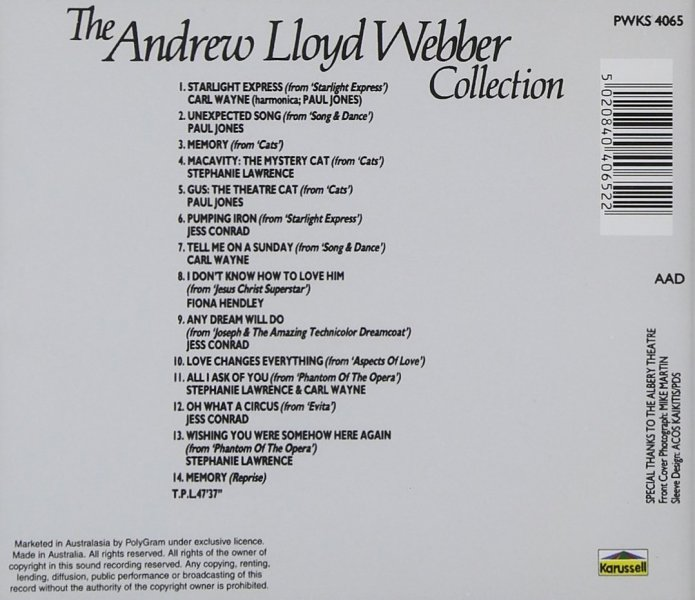 CD The Andrew Lloyd Webber Collection, EUR 9,95