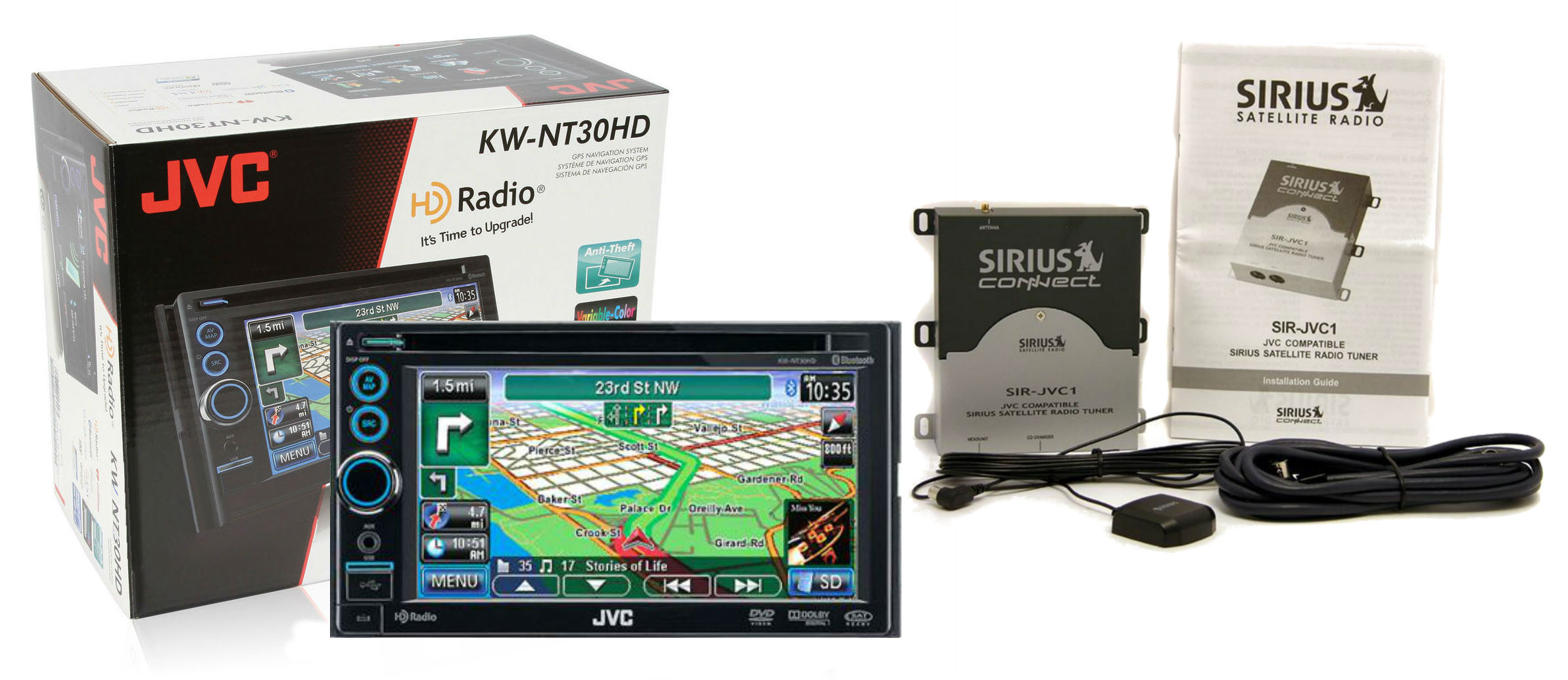 jvc radio update audio cable wiring diagrams kw nt30hd 6 1 quot navigation receiver w bluetooth sir