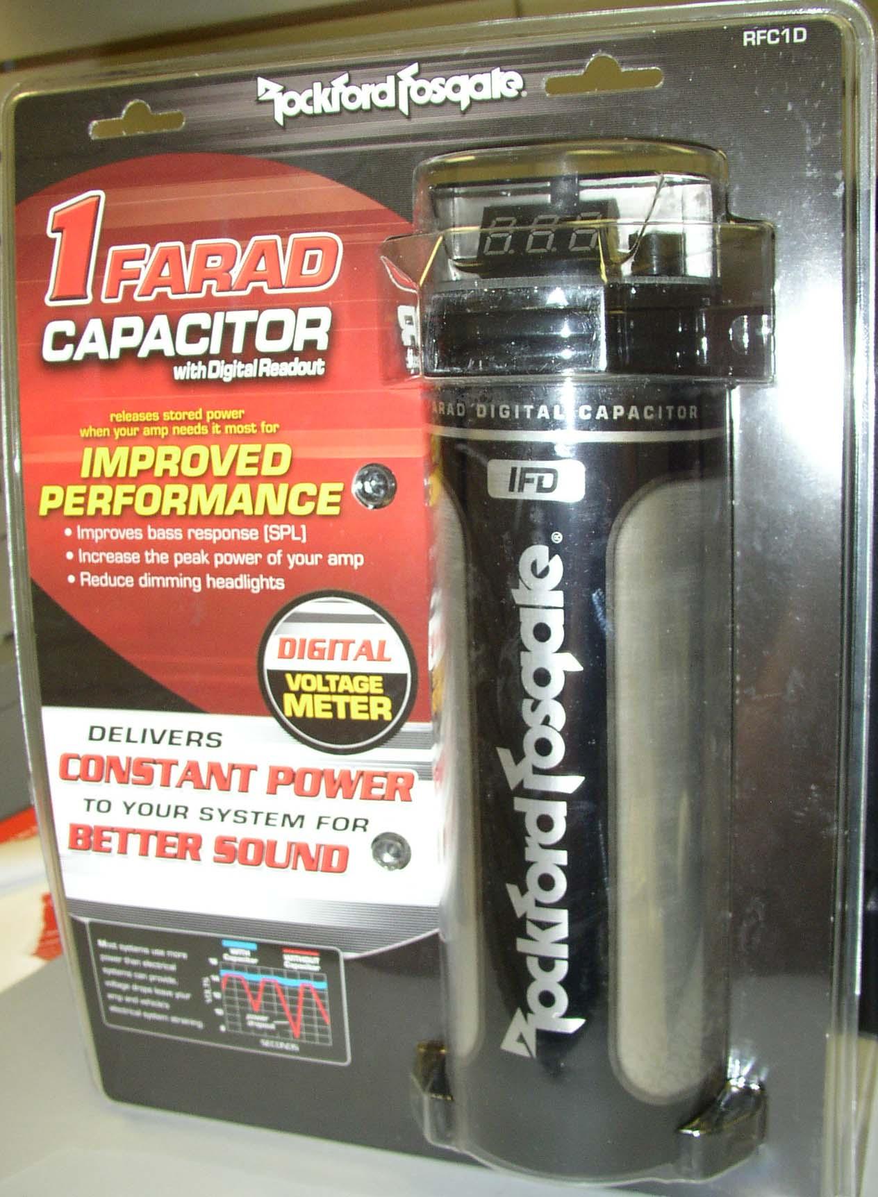 rockford fosgate capacitor wiring diagram 12v relay spotlights 1 farad digital new rfc1d ebay