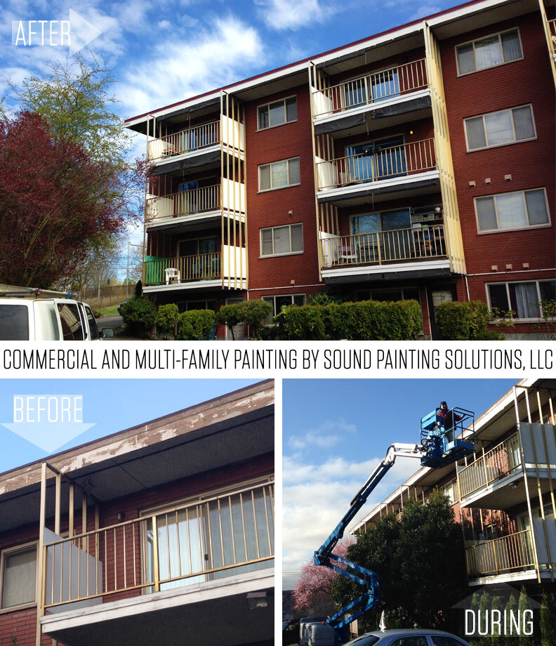 Commercial and multi-family exterior painting - Seattle