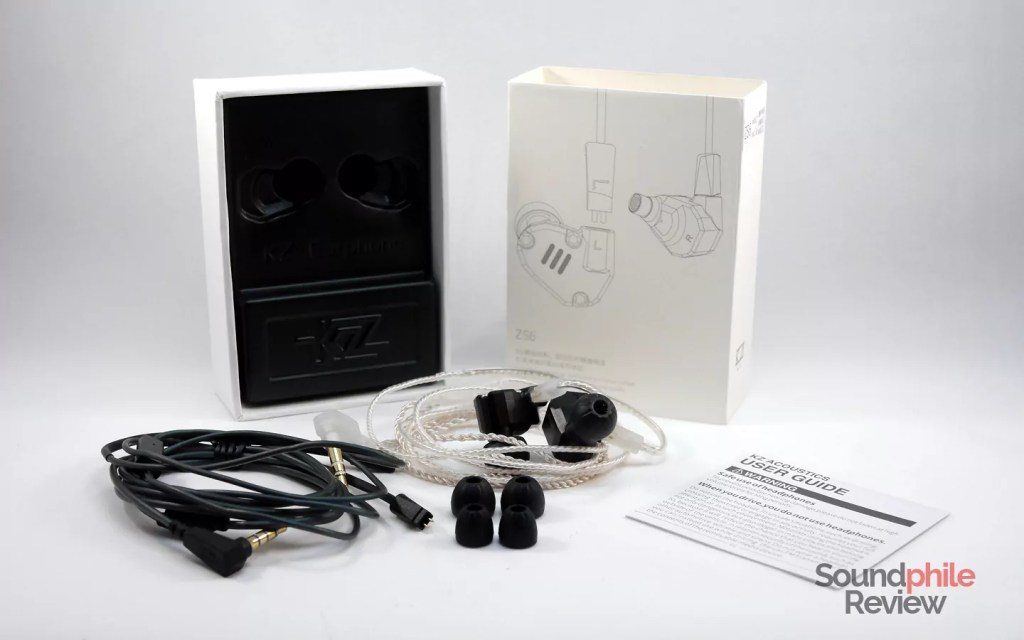 KZ ZS6 review: packaging and accessories
