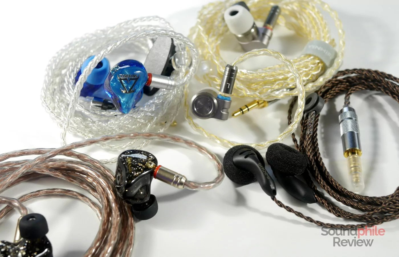 Headphones in Pictures Tin Audio T3, Toneking T4, Shozy BK, Shozy x Neo BG
