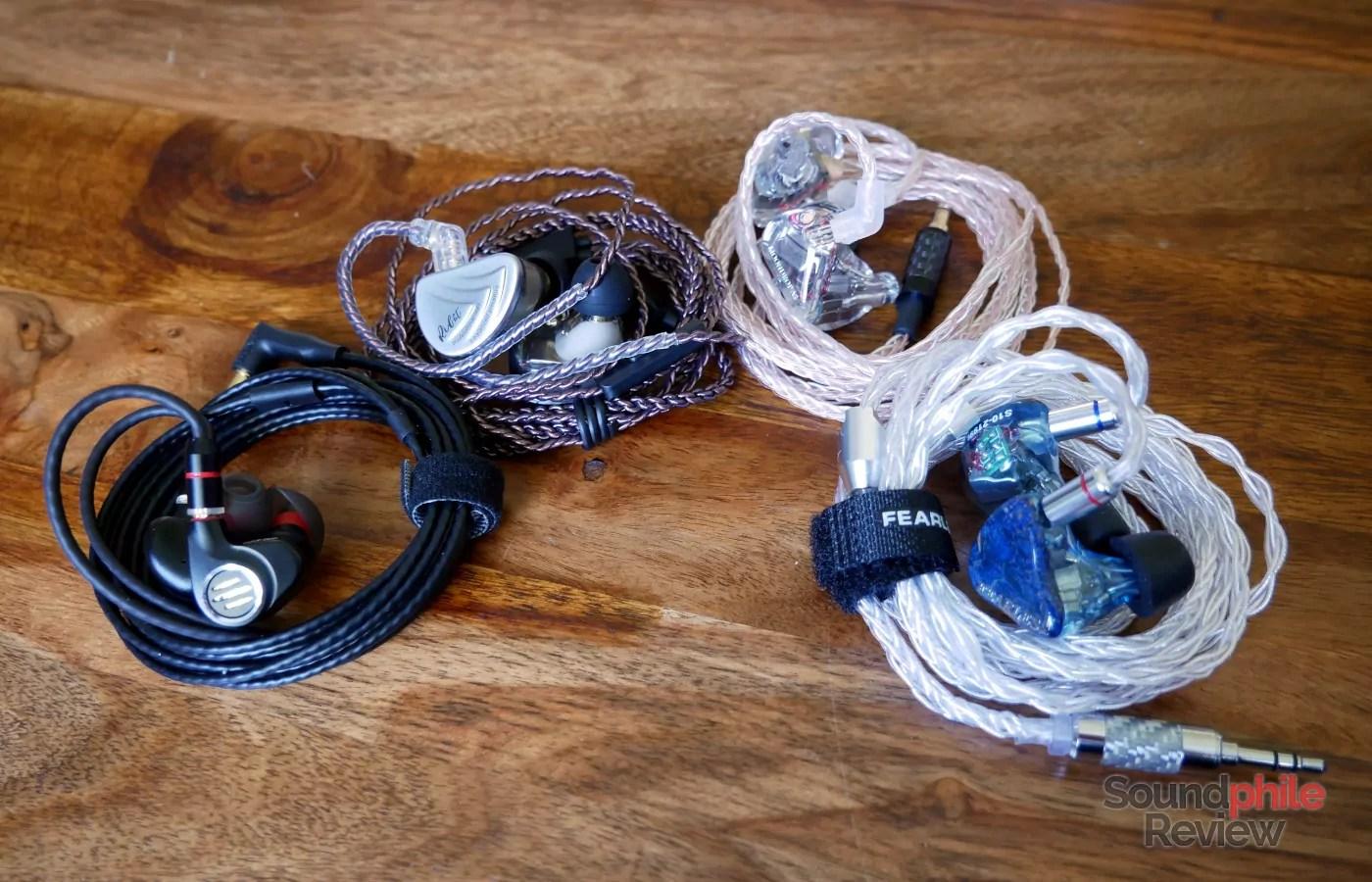 Moondrop A8 KZ AS10 Fearless Audio S10 BGVP DMS Headphones in Pictures
