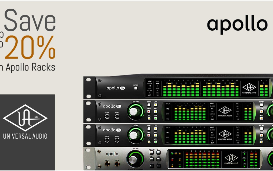 Save up to 20% on Universal Audio Apollo Racks