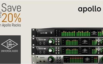 Save up to 20% on Universal Audio Apollo Racks