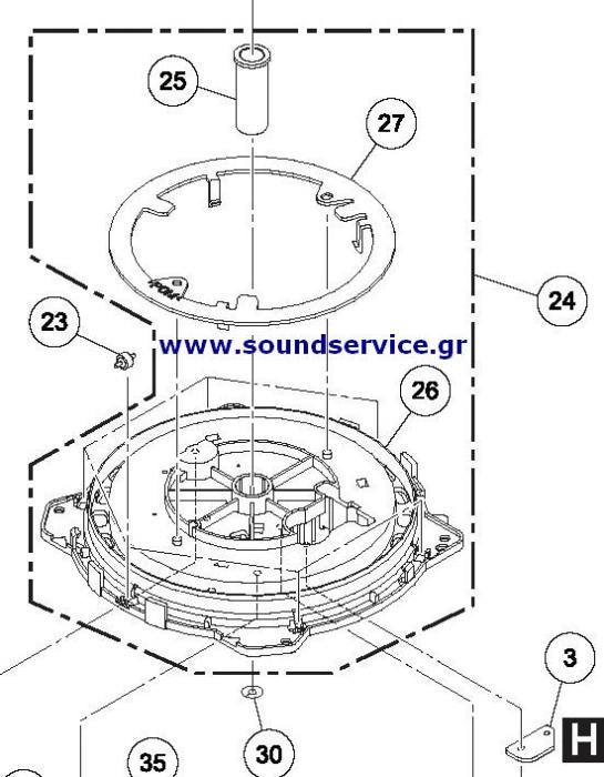 DXB2002 DXB1982 PIONEER CDJ-400 REPLACEMENT BASE JOG WHEEL
