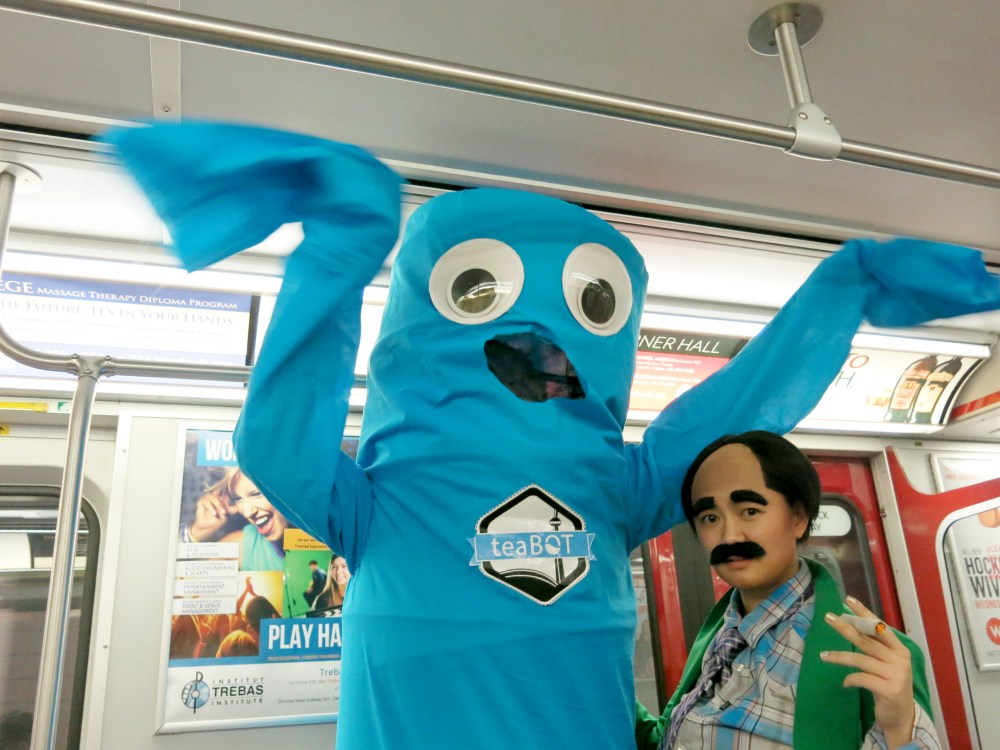 Wacky waving flailing arm tube man costume