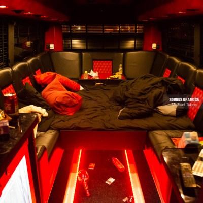 Davido's tour bus
