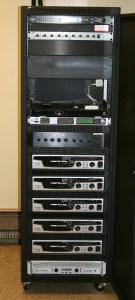 New five-foot amplifier rack (front)