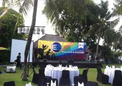 Sewa Sound System Bali Paket 4 Box Speaker Active - Acara Excellence Persiapan 2016