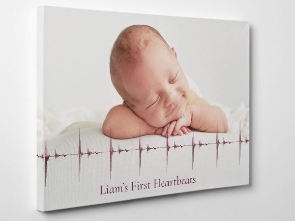 Baby Heartbeat Soundwave with Photo
