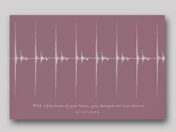 Baby Heartbeat Soundwave Art