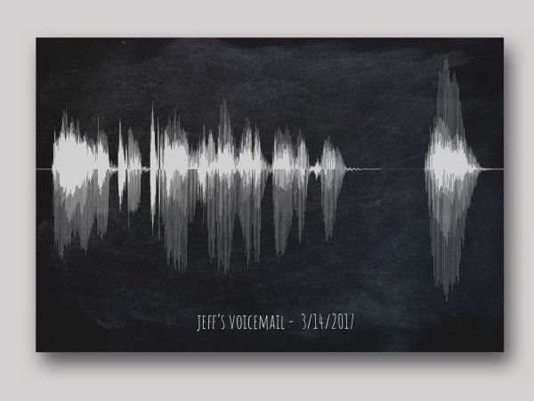 Voicemail Soundwave Art