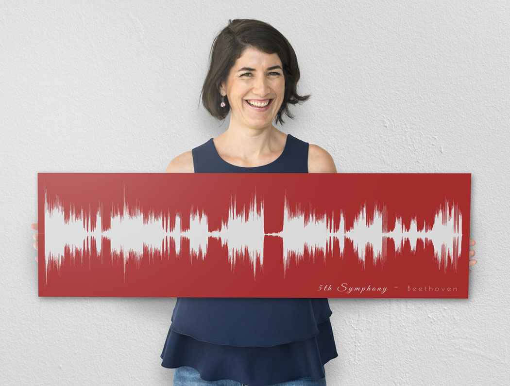 favorite music turned into soundwave art