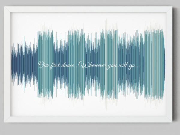 music lover friend gift song sound wave picture