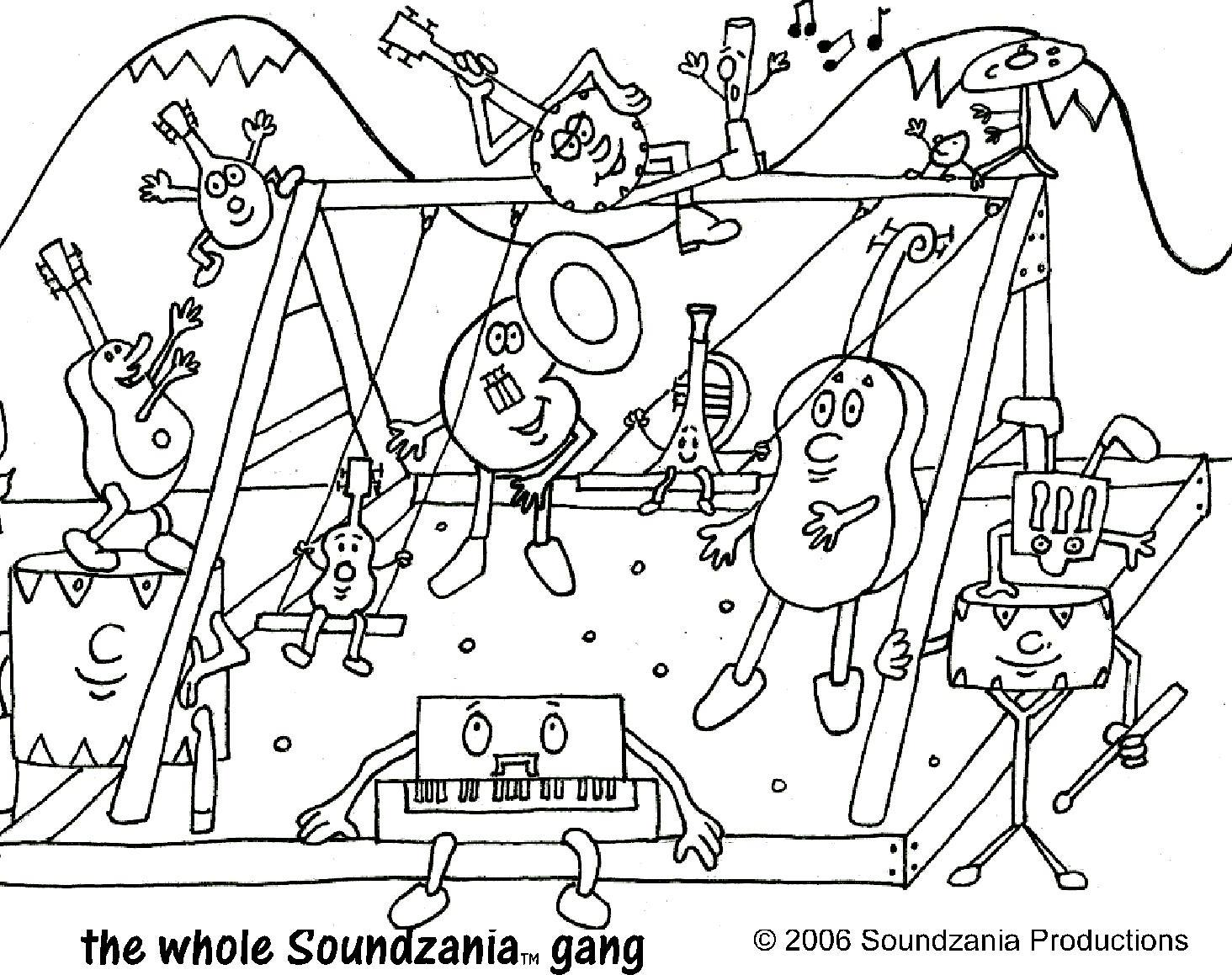 Soundzania — Coloring Pages