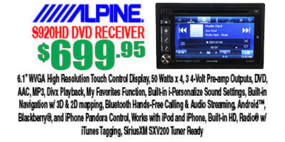 INE-Alpine S920HD DVD Receiver, now available in Tempe Arizona at Sounds Good To Me