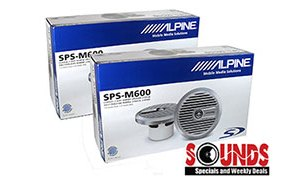 Sound Review of the Alpine SPS-M600 Marine 6.5″ Co-axial Speakers