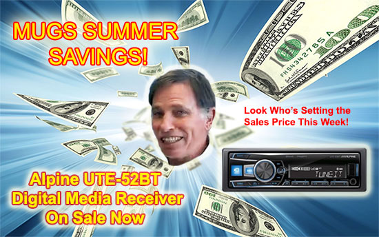 Sounds Good To Me Summer Sale in Tempe, Arizona: Featuring the Alpine UTE-52BT Digital Media Receiver